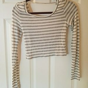 Aerie striped crop top